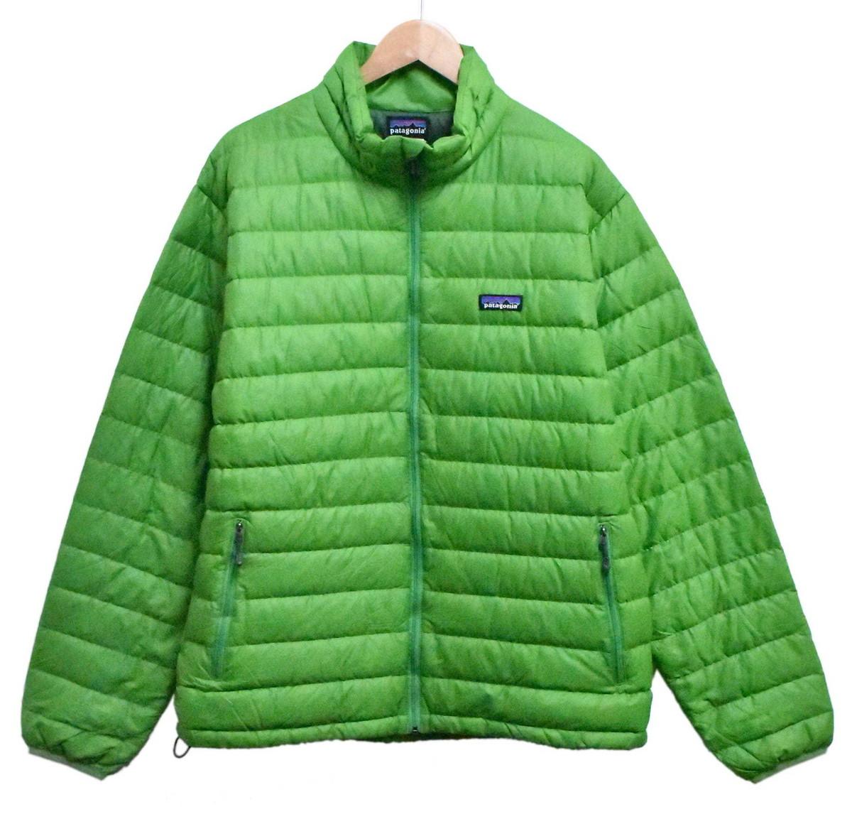 patagonia パタゴニア Down Sweater ダウンセーター 薄手 ダウンジャケット グリーン メンズL相当【中古】▼