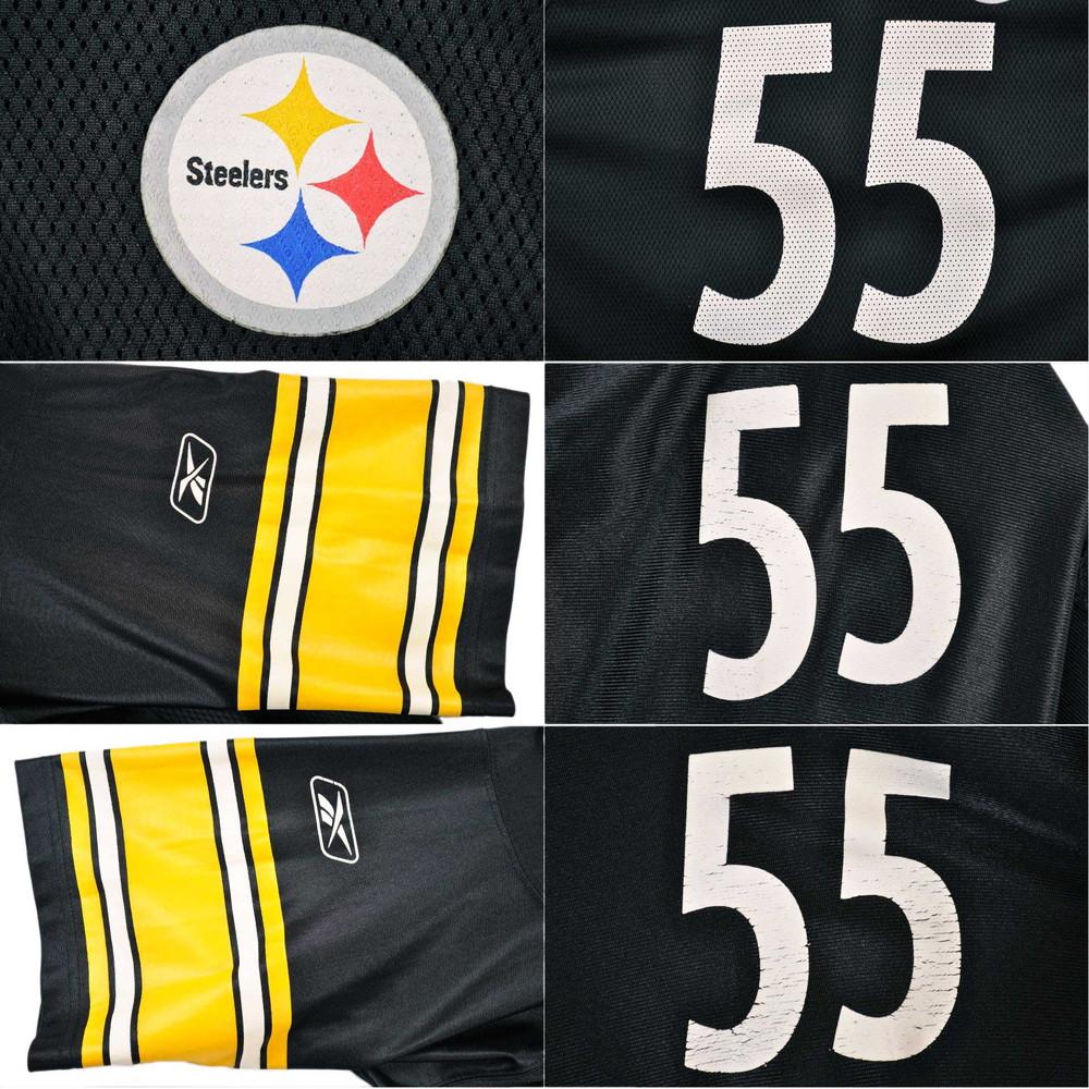 release date: 86d67 1c944 Reebok Reebok NFL Pittsburgh Steelers Pittsburgh Steelers football shirt  numbering uniform mesh black men 4XL equivalency■