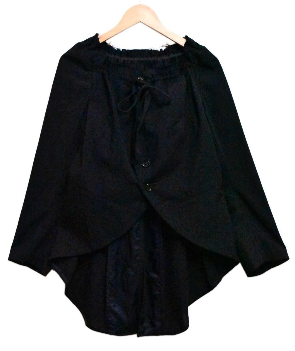 2001年 日本製 COMME des GARCONS コム・デ・ギャルソン 変形デザインジャケット スクエアネック ブラック レディースM【中古】▼