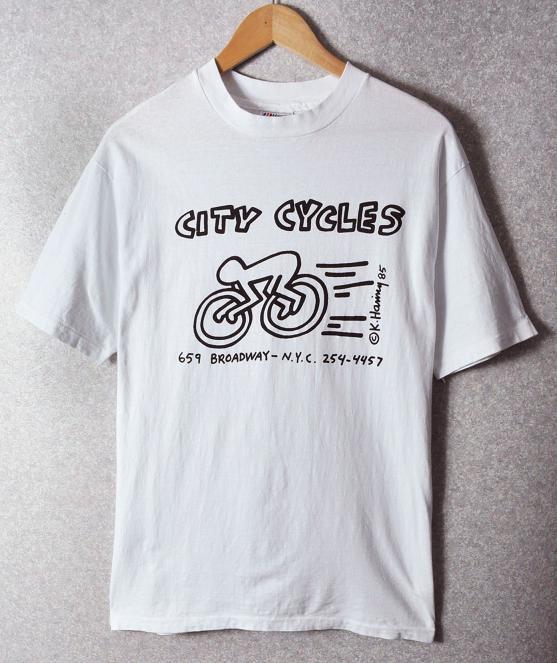 a260d2b60 K.HARING Keith Haring   short sleeves T-shirt   men L made in vintage 85
