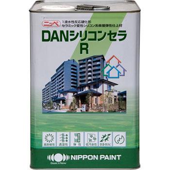DANシリコンセラR 白 ホワイト 15kg なみがた模様 単層弾性塗料 ニッペ