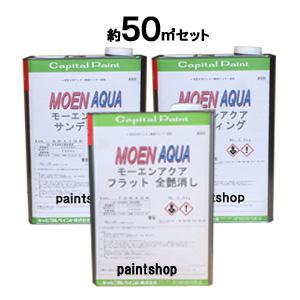 【約50平米分のセット】 不燃材料認定 モーエンアクア 約15坪セット販売 キャピタルペイント