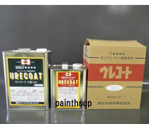 【木部用】ウレコート エナメル 6kgセット 色:白、黒、赤、赤錆、黄色、紺 東日本塗料