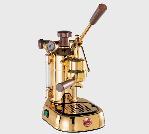 期間限定価格!コーヒーマシン エスプレッソ コーヒーメーカーLa Pavoni( ラ・パボーニ )「 プロフェッショナル PDH 」(18金メッキタイプ)正規輸入品・送料無料