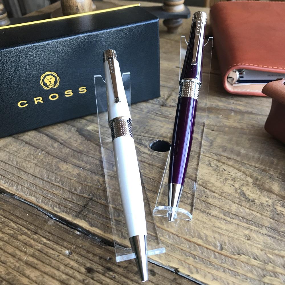 CROSS クロス ベバリー AT0492-2アイボリー/AT0492-7ディープパープル ボールペン/女性/プレゼント/贈り物/記念品