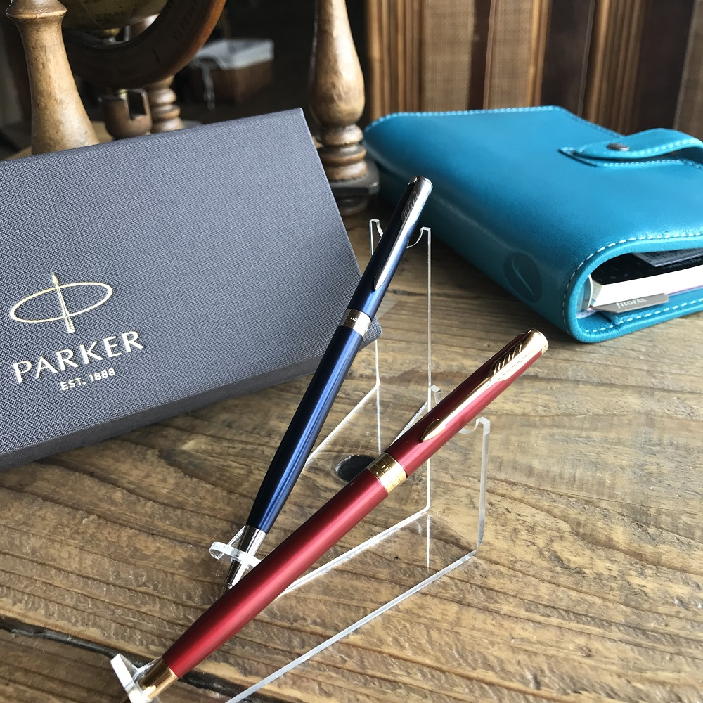 PARKER パーカー ソネット スリム ボールペン レッドGT 1950778 ブルーラッカーCT 1950890 /女性/プレゼント/贈り物/記念品