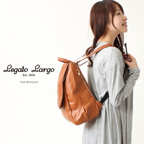 ★ Legato Largo / Largo Legato flap backpack/Pu leather rucksack backpack fashion backpack school backpack know good mothersluc backpack bag Luc ladies backpack diaper bag adult brand backpack