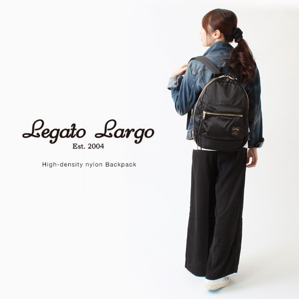 ★ Legato Largo / high density nylon Legato Largo nylon Backpack / Rucksack backpack fashion backpack school backpack know good mothersluc Luc Bag Backpack Backpack diaper bag adult ladies