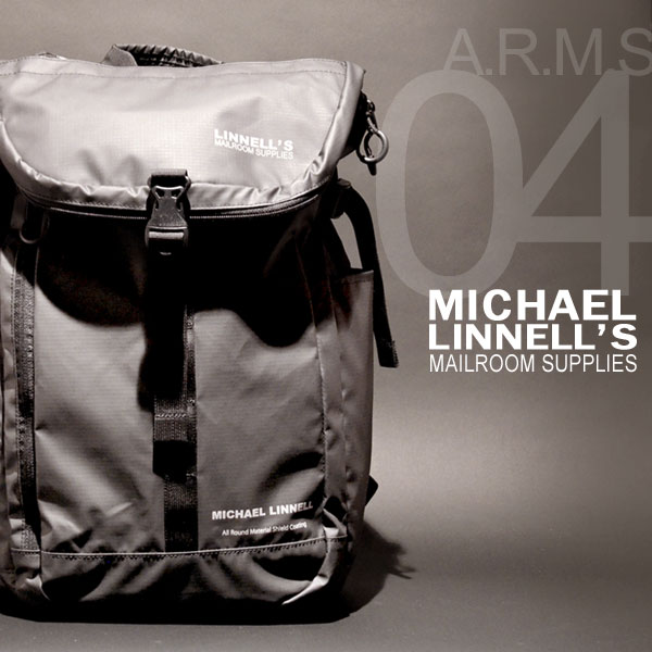 MICHAEL LINNELL/マイケルリンネル A.R.M.Sシリーズ MLAC-04 リュック バックパック 31L メンズ アーミーコーティング 多機能 ブラック