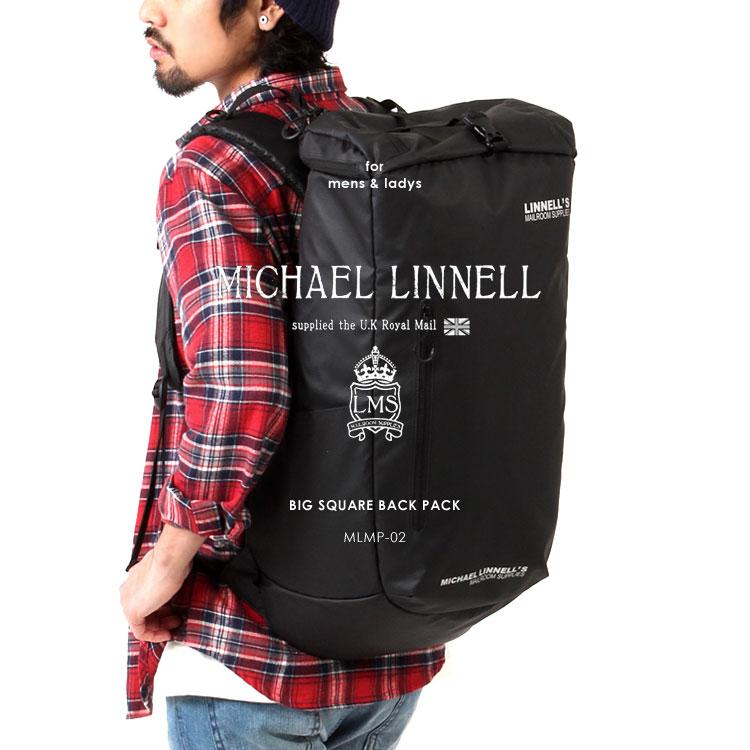 MICHAEL LINNELL/マイケルリンネル ライトウェイトシリーズ MLMP-02 超軽量 ビッグ スクエア バックパック リュックサック