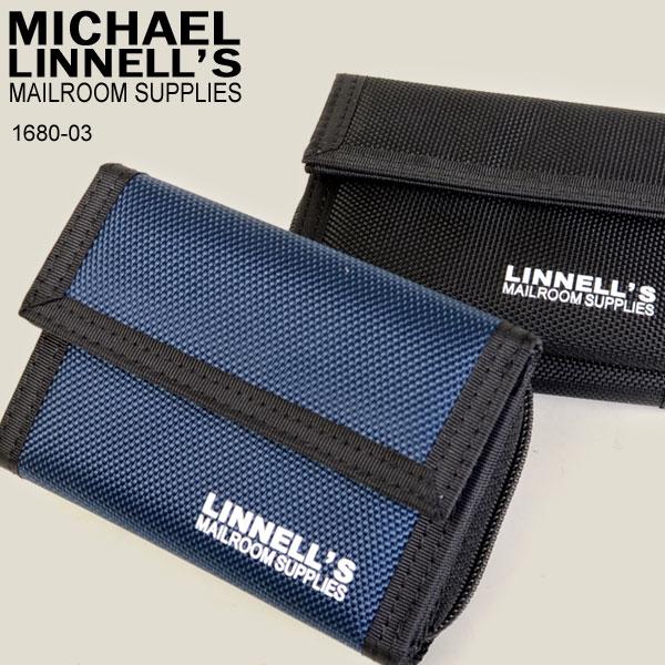 MICHAEL LINNELL マイケルリンネル MLWA-1680-03 三つ折り財布 小銭入れ 1680D メンズ ブラック ネイビー