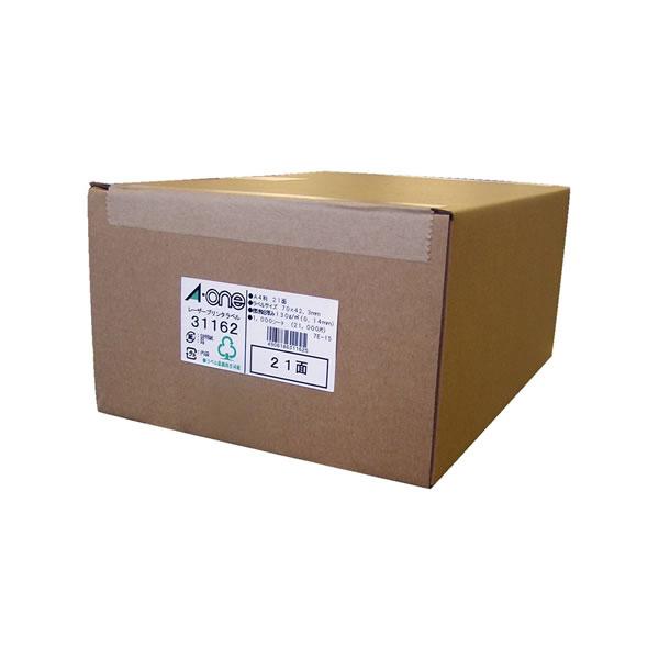 ●ラベルシール(レーザープリンタ) マット紙【A4判21面】 1000枚入 エーワン 31162