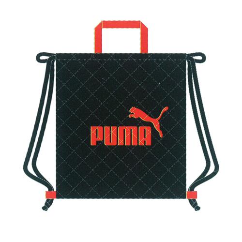 引き出物 プーマ ナップサック 高品質 黒 クツワ PM126BK 0151