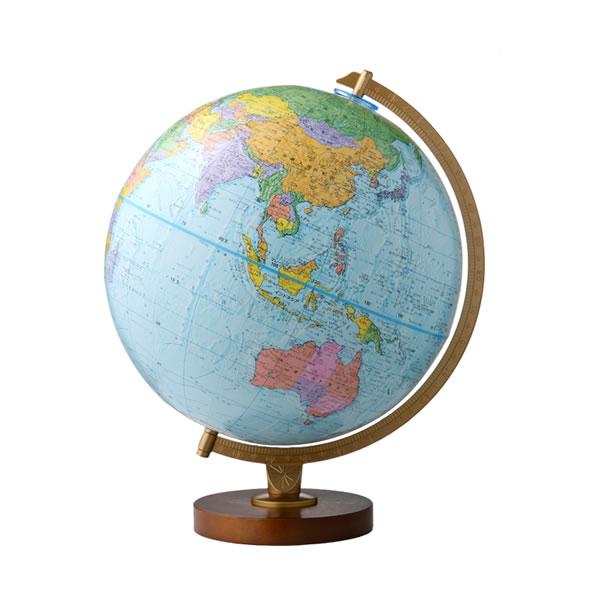 行政型地球儀 エンデバー型 品質検査済 30cm 日本語版 受注生産品 30573 取り寄せ商品 渡辺教具