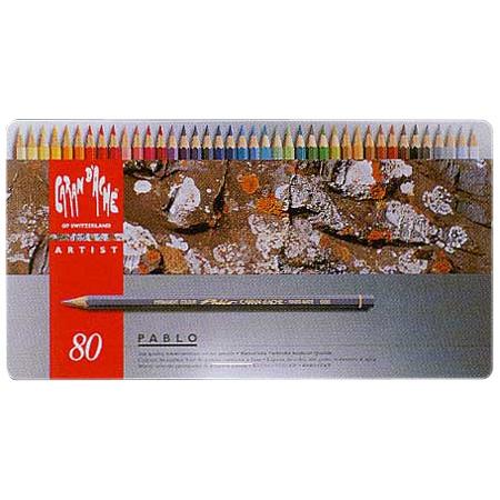 【店内最大ポイント10倍】カランダッシュ CARAND'ACHE 色鉛筆 パブロ油性色鉛筆 0666-380 80色(缶入)【 プレゼント ギフト 】【ペンハウス】 (25600)