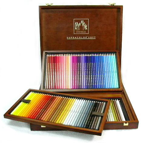 カランダッシュ 色鉛筆 スプラカラーソフト水溶性色鉛筆 3888-920 120色木箱セット【送料無料】「ブランド」【Caran d'Ache】【 プレゼント ギフト 】【万年筆・ボールペンのペンハウス】 (58000)