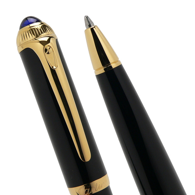 Cartier Ballpoint pen Roadster de Cartier ST240005 Black composite/Gold finish