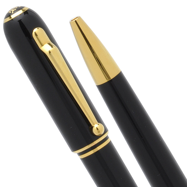 Dunhill Ballpoint pen Sidecar NUA2233 Gold Black Resin