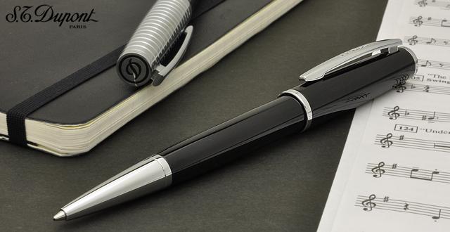 S.T.Dupont Ballpoint pen Saint Michel 440130 Black lacquer/para Chrome