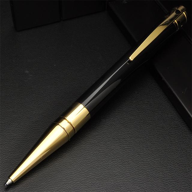 デュポン ボールペン D-イニシャル 265202 ブラック&ゴールド 【ペンハウス】 (20000)