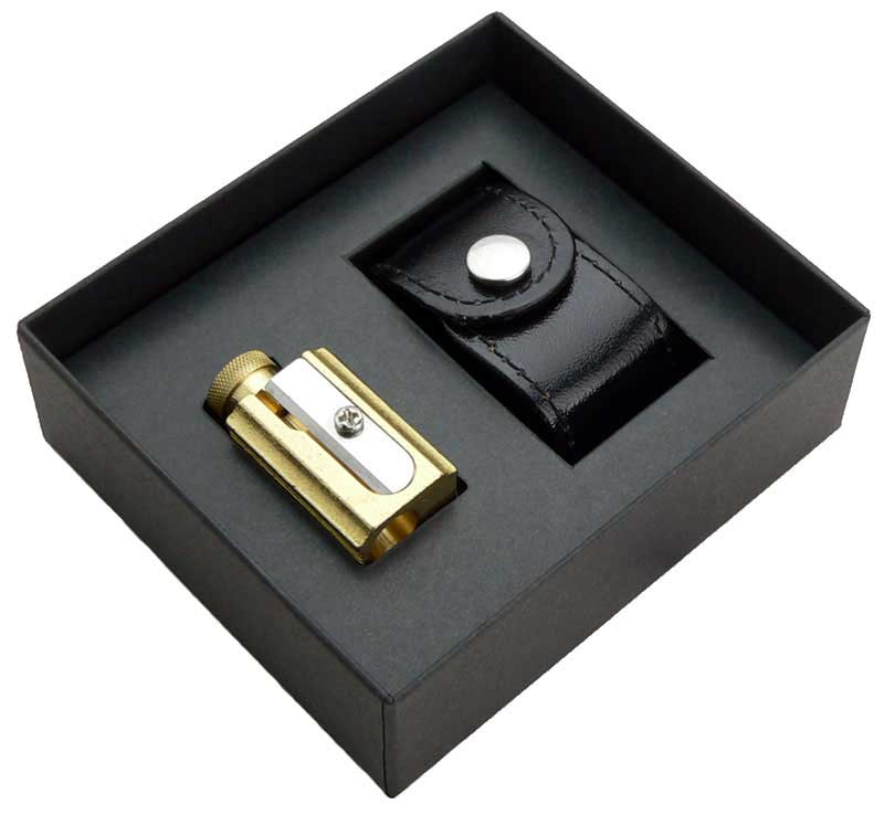 DUX Pencil sharpener Gift set with leather case Black
