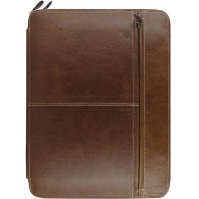 Filofax A4 size Malden Zip Portfolio 828076 Ochre