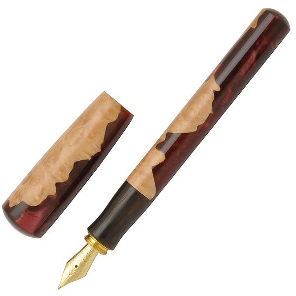 【店内最大ポイント10倍】helico 〈諏訪 匠〉 万年筆 混合樹脂 14Kペン先 コンバーター両用式 Volcano 火山 【送料無料・ラッピング無料】【手作り万年筆/高級万年筆】【 プレゼント ギフト 】【万年筆・ボールペンのペンハウス】 (49000)