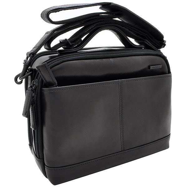 【ビジネスバッグ メンズ】イケテイ KARUWAZA 鞄 ウイング 横型手付ショルダーバッグ 18163-BLK ブラック 小【送料無料・ラッピング無料】【 プレゼント ギフト 】【万年筆・ボールペンのペンハウス】 (28500)