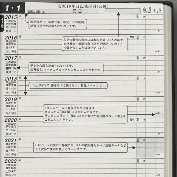 Ishihara-shuppansha Diary Ishihara 10 year diary N101501 2015-2024(2015 version)