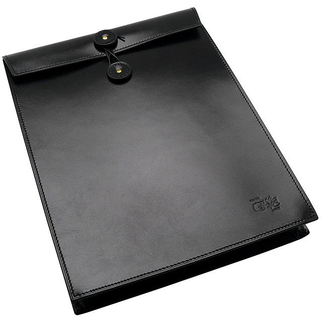 國鞄 鞄 エンブロープ<牛革書類入れ> NO2224-BLK 黒【送料無料】【 プレゼント ギフト 】【万年筆・ボールペンのペンハウス】 (25000)