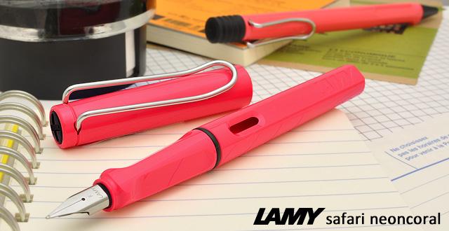 Lamy Fountain pen Safari 2014 Limited Color L41 Neon Coral