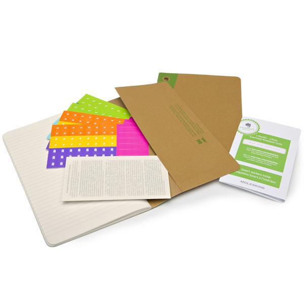 Moleskine Evernote Journal(2 piece set) 408726 SKQP416EVER Ruled Notebook Large size  Craft (1800)