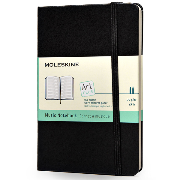 Moleskine pocket-size art plus collection ARTMM801 music notebook brand design stationery (1800)