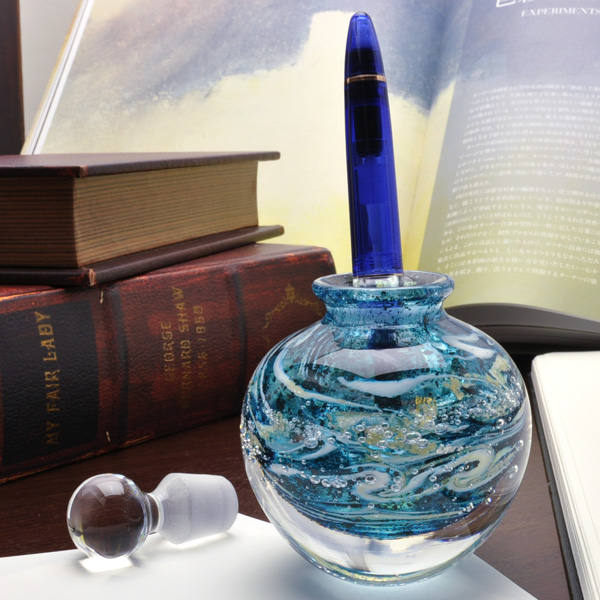 Pent Ink pot Obata glass ONIGAMA SORA