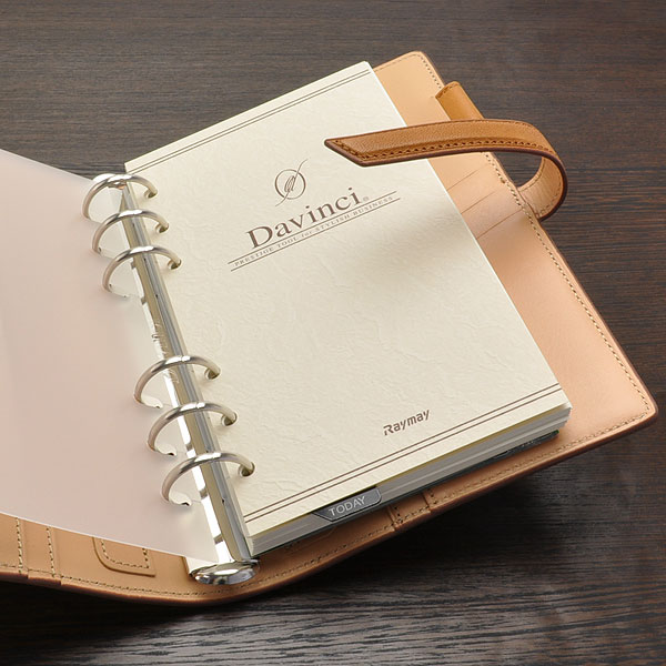 Davinci Personal organiser DaVinci Grande Earth Leather Bible size Ring 24mm DB1312C Brown