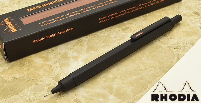 Rhodia Mechanical pencil Script collection cf9299 Mechanical pencil black
