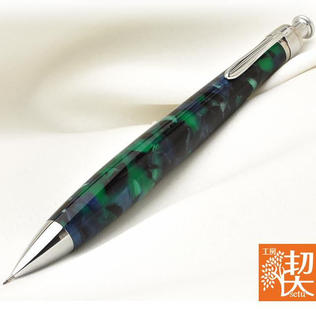 Pent〈ペント〉 ペンシル 0.5mm by工房 楔 ペンシル 0.5mm アクリル エメラルド森の精霊 ~Emerald Forest~【ペンハウス】 (11200)【OKM10】