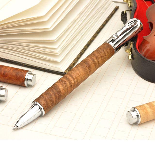 ローラーボール 工房 楔 ローラーボール Mペン ハワイアンコア 木軸 デザイン おしゃれ 水性 ボールペン