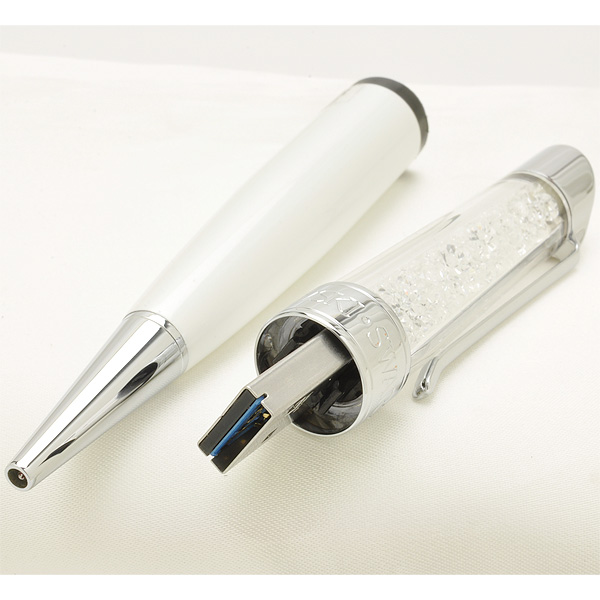 Swarovski Ballpoint pen Crystalline USB 16GB 5064569 White