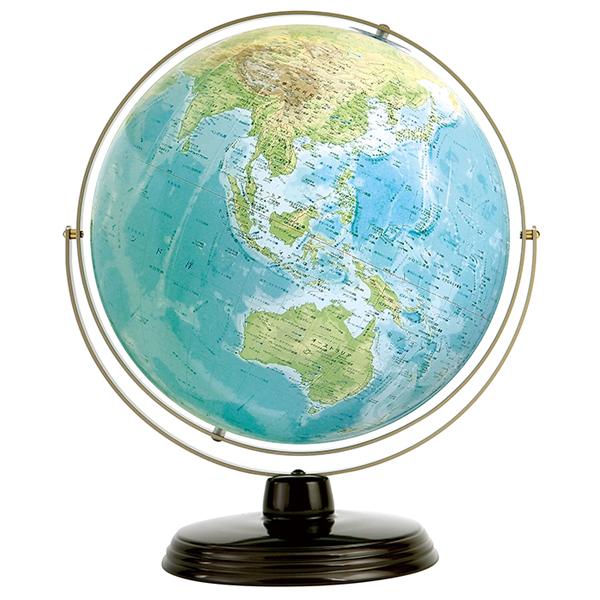 ワタナベ(渡辺教具製作所) 地球儀 衛星地形地球儀 WP W-3301 スチール台 【 プレゼント ギフト 】【ペンハウス】 (28000)