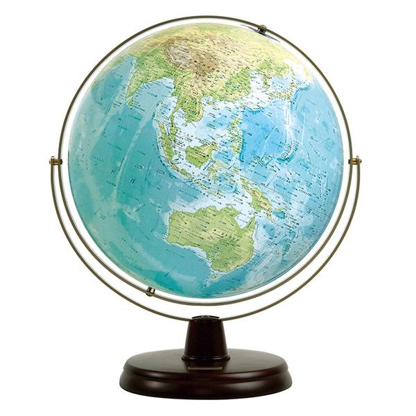ワタナベ(渡辺教具製作所) 地球儀 衛星地形地球儀 WP W-3300 木台 【 プレゼント ギフト 】【ペンハウス】 (28000)