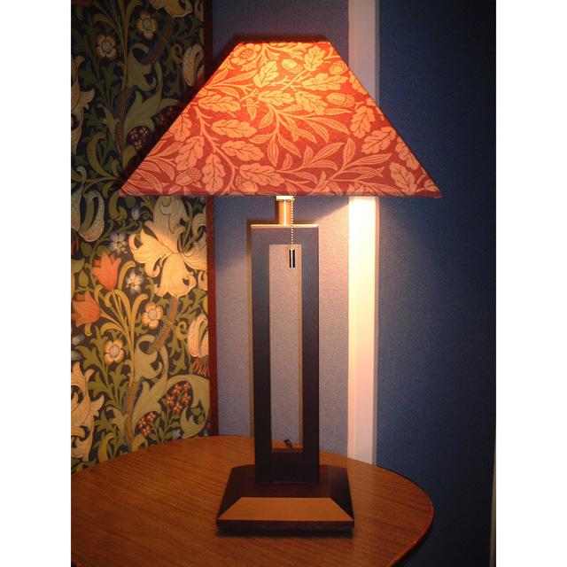 ウィリアム・モリス 照明器具 木製スタンド(ツインタイプ) SRM-AR-TW エーコンレッド【 プレゼント ギフト 】【ペンハウス】 (64000)