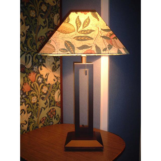 ウィリアム・モリス 照明器具 木製スタンド(ツインタイプ) SRM-FB-TW フルーツベージュ【送料無料・ラッピング無料】【 プレゼント ギフト 】【万年筆・ボールペンのペンハウス】 (64000)