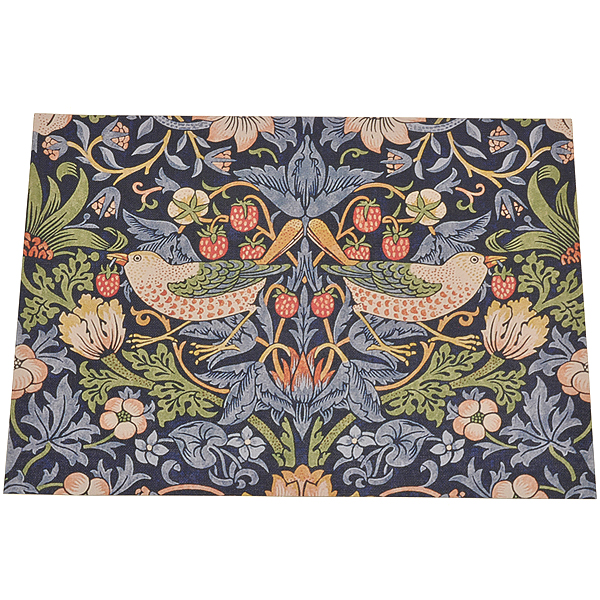 William Morris Design Wallpaper Book Cover Luxe MBL 01 Strawberry Thief