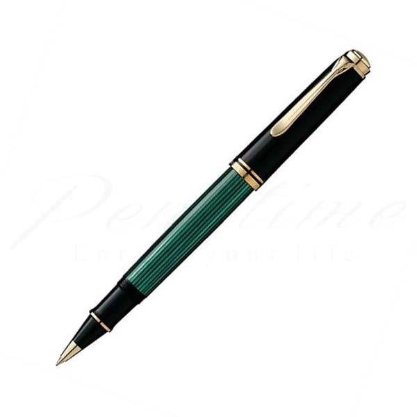 ペリカン ローラーボール スーベレーン R800 緑縞 green<35000>【送料無料】【名入れ無料】【ラッピング無料】【メーカー保証】【ペンタイム】
