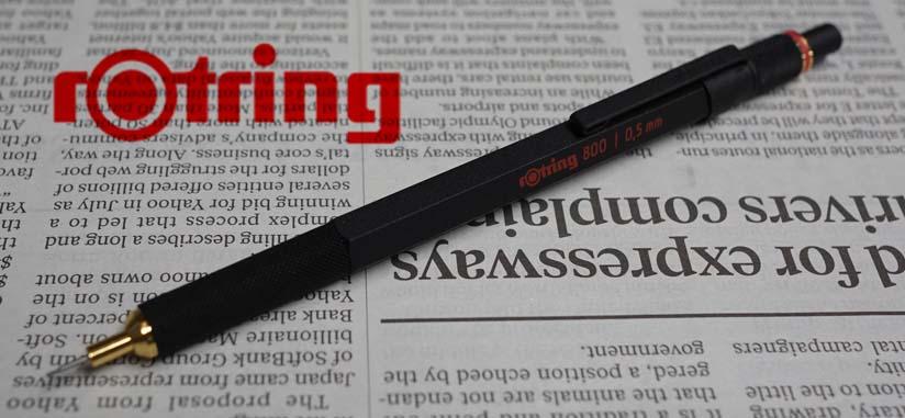 ロットリング メカニカルペンシル(0.5mm) 800シリーズ 1904447 ブラック  <7000>【名入れ有料】【ラッピング無料】【メーカー保証】【ペンタイム】