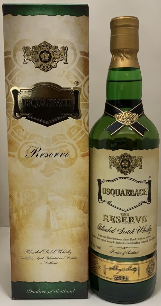 ウイスキーの語源 命の水 の意味を持つブレンデッドウイスキー 平行 箱入り ウシュクべ 43度 700ml いよいよ人気ブランド 年間定番 リザーブ
