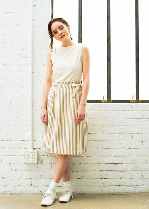 手織りストライプラップスカート【フェアトレード】【ピープルツリー公式】【PeopleTree】