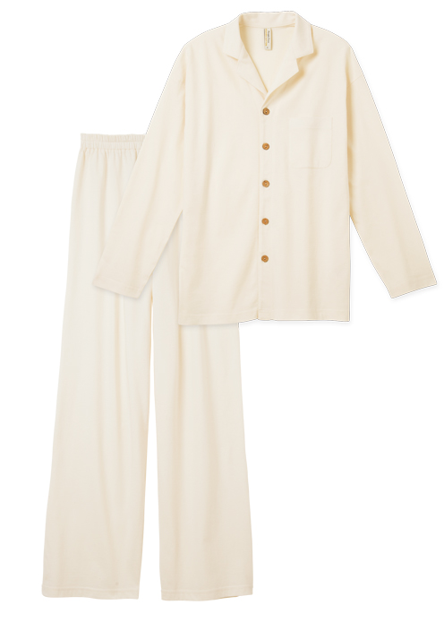 SLOW ORGANIC オーガニックコットン男女兼用パジャマ【フェアトレード】【ピープルツリー】【PeopleTree】
