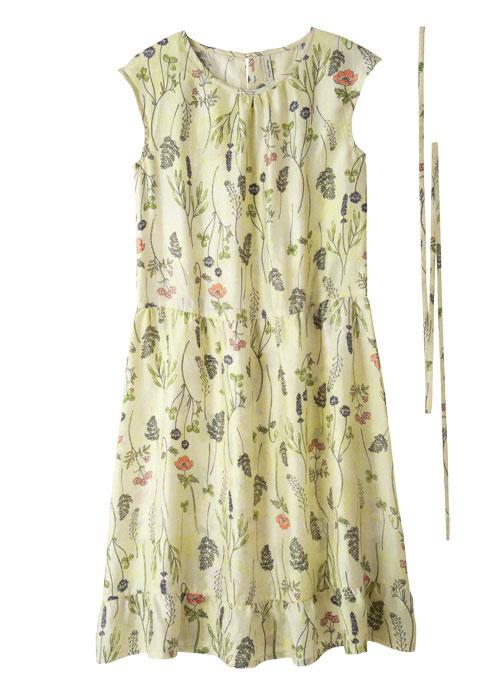 手織りシルクフレンチスリーブドレス【フェアトレード】【ピープルツリー公式】【PeopleTree】